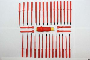 Moulded Double Colored Insulated Replaceable Screwdriver pictures & photos