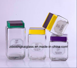 Transparent Airtight Glass Jar with Plastic Lid