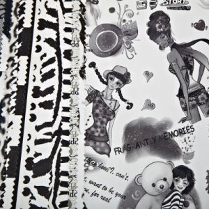 Printed Pattern PU Leather for Cloth (WDHF131220P) pictures & photos