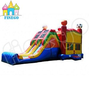 Kids Outdoor Inflatable Air Castle and Slide with Air Blower pictures & photos
