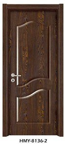 Wood Door (HMY-3156-2) . Solid Wooden Composite Door