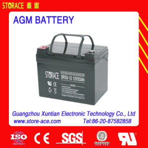 Long Life Deep Cycle Solar Battery 12V 33ah pictures & photos