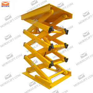 Small Stationary Cargo Scissor Lift China pictures & photos