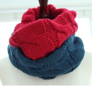 Winter Comfortable Warm Knit Scarf (FB-90514) pictures & photos
