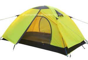 Popular Durable Aluminium Pole Camping Tent for 2 Persons (JX-CT016) pictures & photos