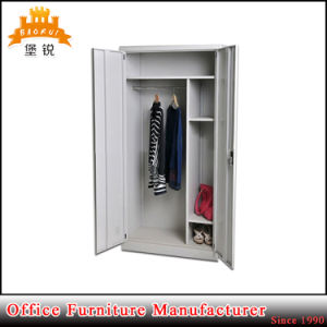 Factory Cheap Price Office Two Swing Door Steel Wardrobe Cupboard pictures & photos