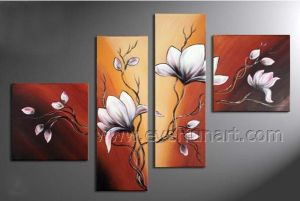 Hand Painted Canvas Art Modern Flower Oil Painting for Home Decor (FL4-117) pictures & photos