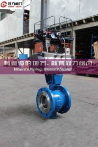 Gearbox Pneumatic Operation Segment Ball Valve pictures & photos
