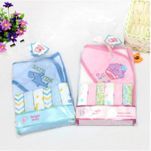 Baby Bath Towel+6 PCS Small Square Handerchief pictures & photos