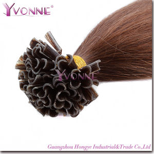 Pre-Bonded Nail Hair Extension U-Tip Brazilian Human Hair pictures & photos