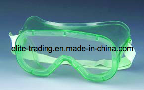 Green Color CE Certified Safety Goggles with Air Holes