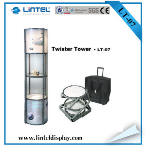 Folding Exhibition Screen Spiral Tower Showcase (LT-07) pictures & photos