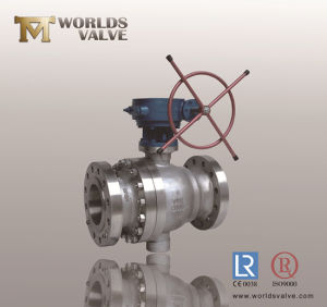 CF8m Flanged Ball Valve with Worm Gear pictures & photos