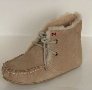 Sheepskin Shoes Slipper for Women and Girls Sand.