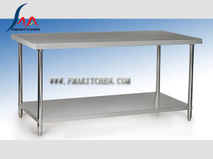 Stainless Steel Work Table/Assembing Working Table/Kitchen Table/Workbench (Round tube) , Preparation Table pictures & photos