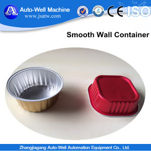 Disposable Smoothwall Aluminium Foil Container with Lid pictures & photos