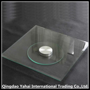 Squar Clear Tempered Glass Plate with Steel Base Board pictures & photos