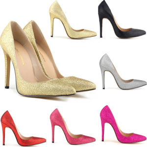 Glitter Bling Leather Women Shoe