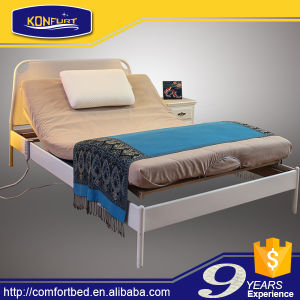 Eco-Friendly Slat Bed Electric Bed Adjustable Bed with Memory Foam Mattress pictures & photos