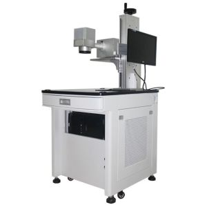 10W Table Top End Pump Laser Marking Machine for Plastic Surface Marking pictures & photos
