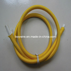 Yellow Fabric Braided Power Cord Use for Pendant Lamp Wire pictures & photos