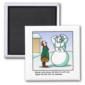 Muscular Snowman Cartoon Fridge Magnets pictures & photos