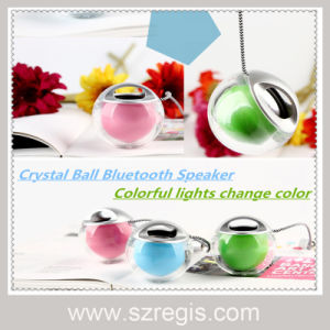Portable Creative Mini Crystal Ball LED Wireless Bluetooth Speaker pictures & photos