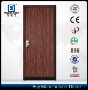 Fangda Metal Door Styles, Israeli Security Door with Wooden Grain PVC Film pictures & photos