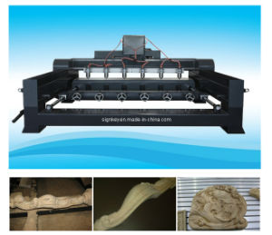 Wooden Furniture CNC Rotary Router (3512C&W-6Z)