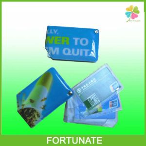 Custom Color Frost PVC Credit Card Folding Holder for Promoion