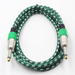 Braid Assembly Guitar Patch Cord 6.35mm Ts Male to Male pictures & photos