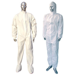 Cheap White SMS Breathable Disposable Overall 63G Ce pictures & photos