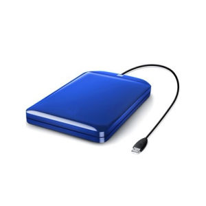 External Hard Drive With 500GB and Blue Color