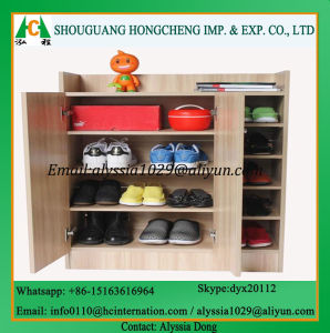 Hallway Furniture Wooden 2 Door Shoe Cabinet pictures & photos