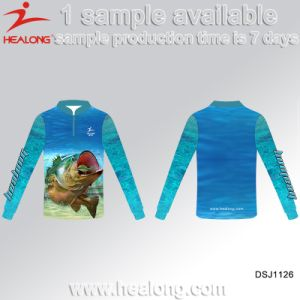 Healong OEM Factory Wholesale Any Logo Sublimation Fishing Sunscreen Sweater Shirts pictures & photos
