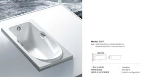 Newest Hot Selling Indoor Square Bathroom Bathtub pictures & photos