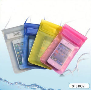 Cheap Cellphone PVC Waterproof Case Bag with Strap for Swimming Diving Beach