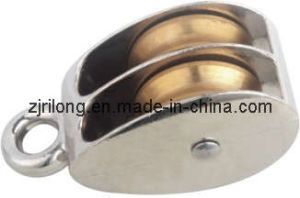 Fixed Zinc Alloy Pulley with Double Wheel Dr-7320b pictures & photos