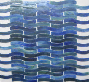 Best Popular Rainbow Wave Glass Mosaic Tile pictures & photos