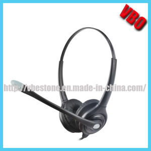 Best Selling Binaural Telephone Headset Call Center USB Headset pictures & photos