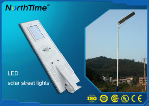 50W Monocrystalline Silicon Panel LED Solar Street Lights with PIR pictures & photos