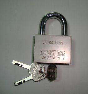 Square Blade Iron Padlock Electroplating W/Vane Key (650) pictures & photos