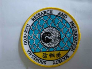 Custom Woven Label, Woven Patches with Overlocking for Garment (PP-WL-14c) pictures & photos