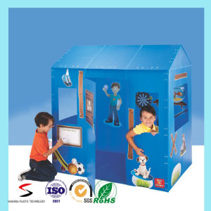 Recycle Foldable Removable Corrugated Plastic Playhouse for Children pictures & photos