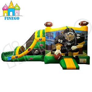New Design Soccer Man Inflatable Bouncer Slide pictures & photos
