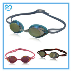 Silver Coating PC Sports Competitive Swimming Goggles pictures & photos