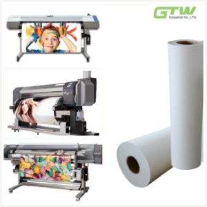 """63"""" 80GSM Fast Dry Sublimation Transfer Paper in Roll with High Transfer Rate pictures & photos"""
