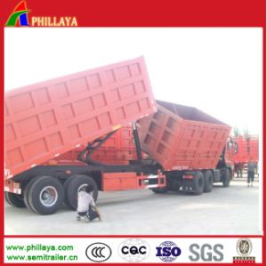Front Side Tipping Rear Lifting Hydraulic Cargo Trailers Double Dumper pictures & photos