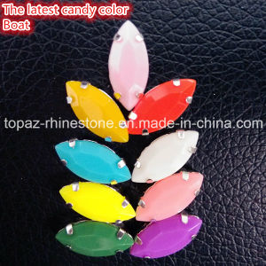 Plastic Loose Jewelry Stone Sew on Rhinestone in Candy Color pictures & photos