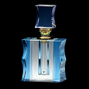 Blue Crystal Clear Perfume Bottle Logo (JD-QSP-383) pictures & photos